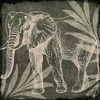 Bloomsbury Market 'Elephant 1' Graphic Art Print; Rolled Canvas