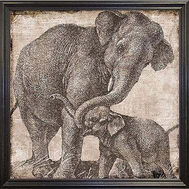 Bloomsbury Market 'Elephant 2' Graphic Art Print; Black Grande Framed Paper
