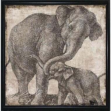 Bloomsbury Market 'Elephant 2' Graphic Art Print; Flat Black Metal Framed Paper