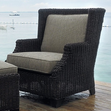 Padmas Plantation Outdoor Terrace Lounge Chair w/ Cushions
