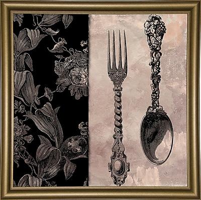 Astoria Grand 'Victorian Table IV' Graphic Art Print; Bistro Gold Framed Paper
