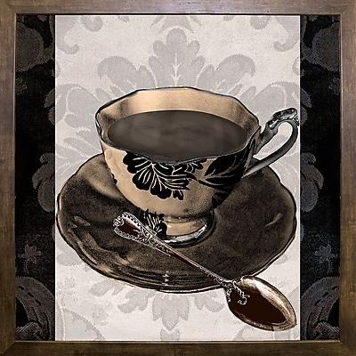Astoria Grand 'Vintage Cafe IV' Graphic Art Print; Cafe Mocha Framed Paper