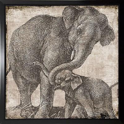 Bloomsbury Market 'Elephant 2' Graphic Art Print; Budget Saver Framed Paper