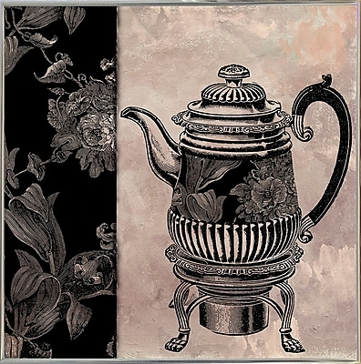 Astoria Grand 'Victorian Table III' Graphic Art Print; Silver Metal Framed Paper
