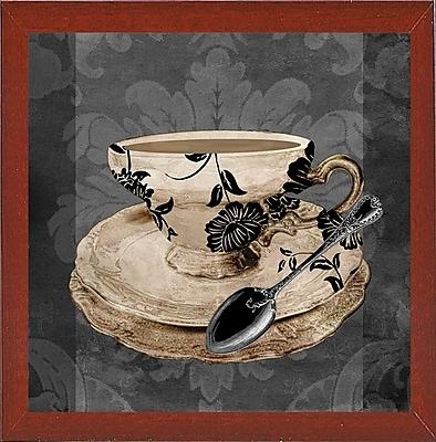 Astoria Grand 'Vintage Cafe I' Graphic Art Print; Affordable Red Mahogany Medium Framed Paper