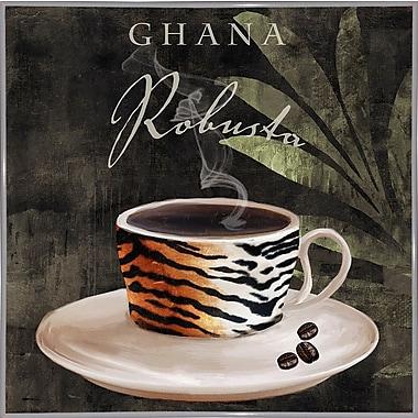 Bloomsbury Market 'Afrikan Coffee IV' Graphic Art Print; White Metal Framed Paper