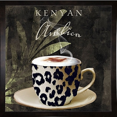 Bloomsbury Market 'Afrikan Coffees I' Graphic Art Print; Affordable Black Medium Framed Paper