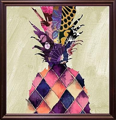 Bloomsbury Market 'Pineapple Brocade II' Rectangle Graphic Art Print; Cherry Grande Framed Paper