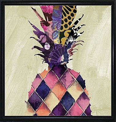Bloomsbury Market 'Pineapple Brocade II' Rectangle Graphic Art Print; Flat Back Metal Framed Paper