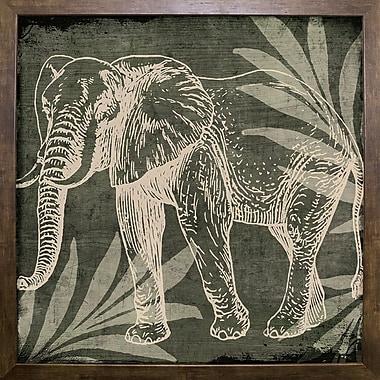 Bloomsbury Market 'Elephant 1' Graphic Art Print; Cafe Mocha Framed Paper