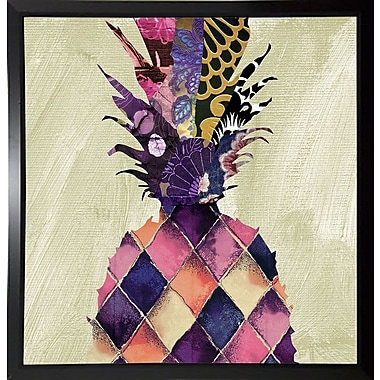 Bloomsbury Market 'Pineapple Brocade II' Rectangle Graphic Art Print; Budget Saver Framed Paper