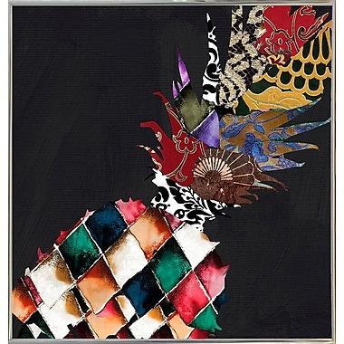 Bloomsbury Market 'Pineapple Brocade II' Graphic Art Print; Silver Metal Framed Paper