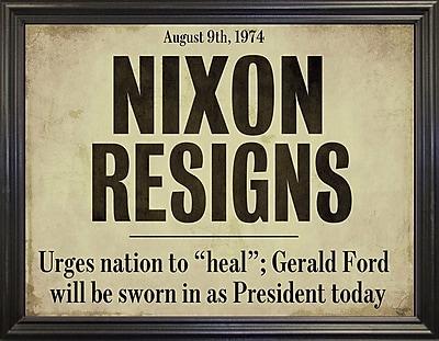 Ebern Designs 'Nixon' Textual Art; Black Grande Framed Paper