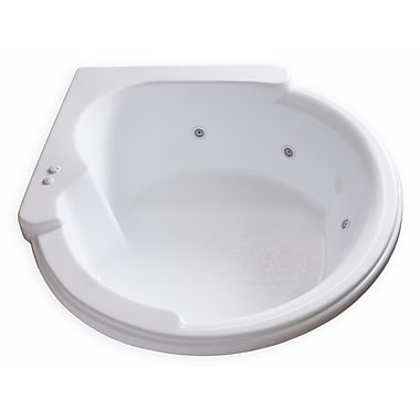 Carver Tubs Hygienic Aqua Massage 64'' x 59'' Whirlpool Bathtub
