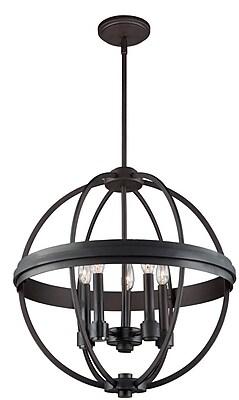 17 Stories Georgea 5-Light Globe Pendant; Chrome