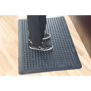 Symple Stuff Glossy Bubbles Top Anti-Fatigue Eco-Poly Indoor/Outdoor Doormat; 24'' x 36''