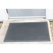 Symple Stuff 100pct Rubber Clean Step Scraper Doormat; 24'' x 36''