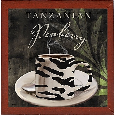 Bloomsbury Market 'Afrikan Coffee II' Graphic Art Print; Affordable Red Mahogany Medium Framed Paper