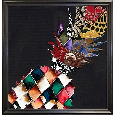 Bloomsbury Market 'Pineapple Brocade II' Graphic Art Print; Black Grande Framed Paper