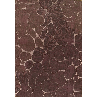 Pasargad NY Modern Hand-Knotted Wool Brown Area Rug