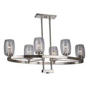 Red Barrel Studio Nelly 6-Light Candle-Style Chandelier; Brushed Nickel