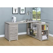 Red Barrel Studio Yussuf Executive Desk; Gray Driftwood