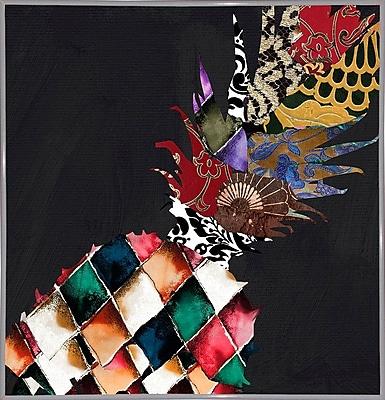 Bloomsbury Market 'Pineapple Brocade II' Graphic Art Print; White Metal Framed Paper