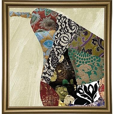 Bloomsbury Market 'Pear Brocade I' Graphic Art Print; Bistro Gold Framed Paper