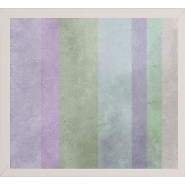 Ebern Designs 'Hortensia Stripes' Graphic Art Print; Affordable White Medium Framed Paper