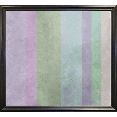Ebern Designs 'Hortensia Stripes' Graphic Art Print; Black Grande Framed Paper