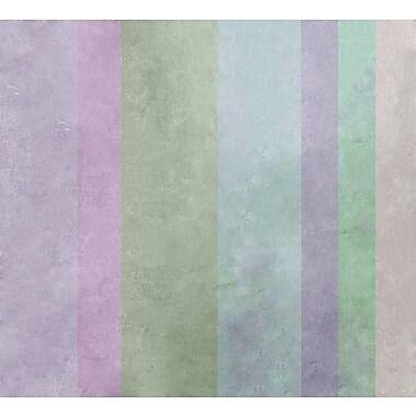 Ebern Designs 'Hortensia Stripes' Graphic Art Print; Rolled Canvas