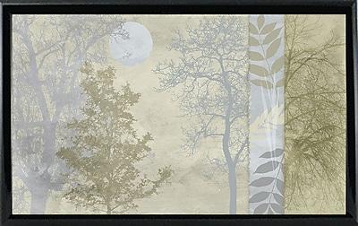 Ebern Designs 'Tree Language I' Graphic Art Print; Shiny Black Metal Framed Paper