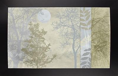 Ebern Designs 'Tree Language I' Graphic Art Print; Affordable Black Large Framed Paper