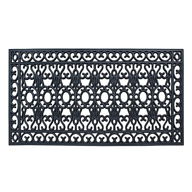 Darby Home Co Albertina Scrollwork 100pct Rubber Beautifully Hand Finished Elegant Doormat