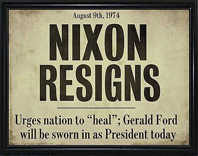 Ebern Designs 'Nixon' Textual Art; Flat Black Metal Framed Paper