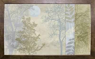 Ebern Designs 'Tree Language I' Graphic Art Print; Cafe Mocha Framed Paper