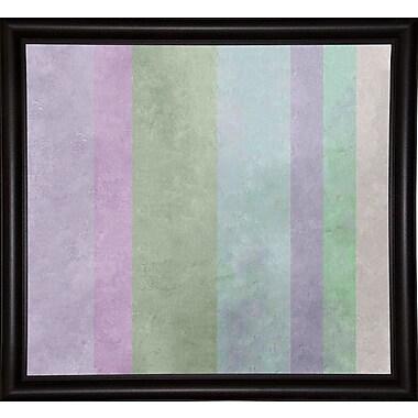 Ebern Designs 'Hortensia Stripes' Graphic Art Print; Bistro Espresso Framed Paper