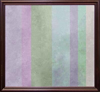 Ebern Designs 'Hortensia Stripes' Graphic Art Print; Cherry Grande Framed Paper