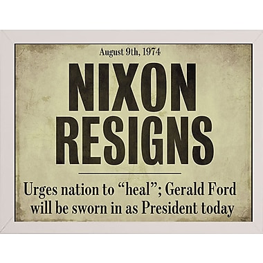 Ebern Designs 'Nixon' Textual Art; Affordable White Medium Framed Paper