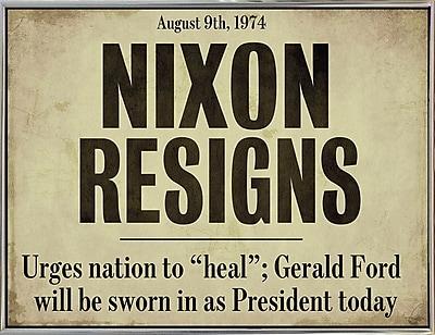 Ebern Designs 'Nixon' Textual Art; Silver Metal Framed Paper