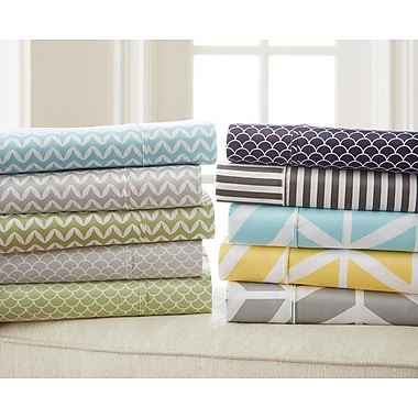 Varick Gallery Fiala Striped Premium Ultra Soft 4 Piece Printed Bed Microfiber Sheet Set