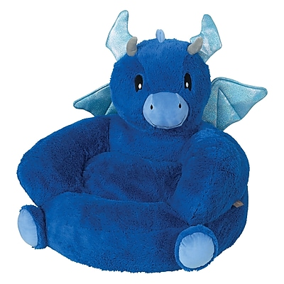 Trend Lab Plush Dragon Character Kids Faux Fur Chair