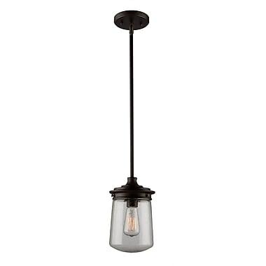 Williston Forge Hayley 1-Light Mini Pendant; 11.25'' H x 7'' W x 7'' D