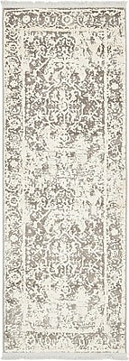 Bungalow Rose Wilton Gray Area Rug; Runner 2'2'' x 6'