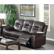 Brassex Napolean Recliner Reclining Sofa; Brown
