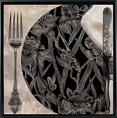 Astoria Grand 'Victorian Table II' Graphic Art Print; Black Metal Framed Paper