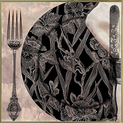 Astoria Grand 'Victorian Table II' Graphic Art Print; Gold Metal Framed Paper