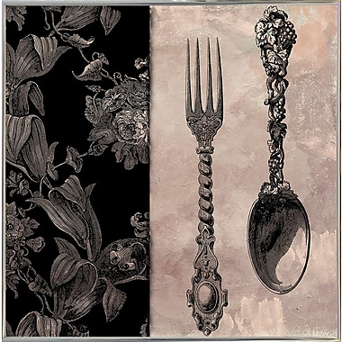 Astoria Grand 'Victorian Table IV' Graphic Art Print; Silver Metal Framed Paper