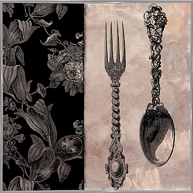 Astoria Grand 'Victorian Table IV' Graphic Art Print; White Metal Framed Paper