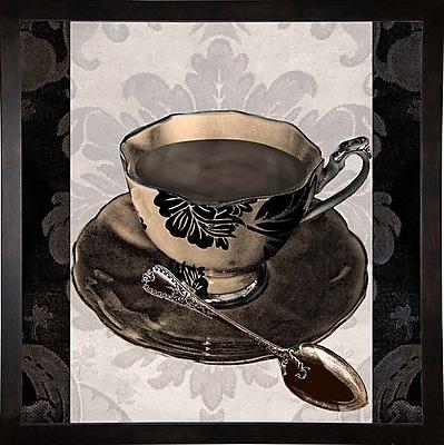 Astoria Grand 'Vintage Cafe IV' Graphic Art Print; Cafe Espresso Framed Paper